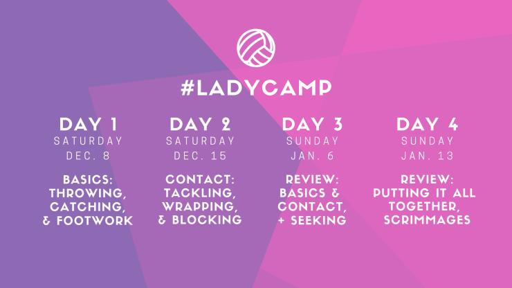 #LadyCamp Schedule